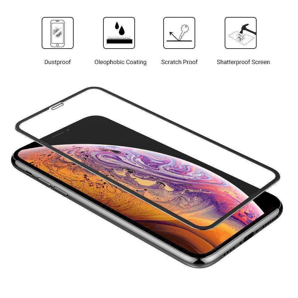 AMZER Kristal 9H Tempered Glass Edge2Edge Protector for iPhone Xr/
