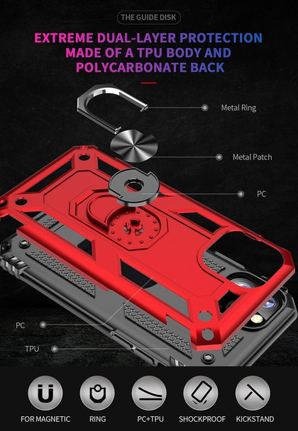 AMZER Sainik Case With 360° Magnetic Ring Holder for iPhone 11 Pro Max