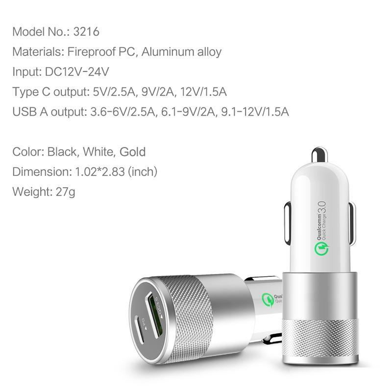 Premium QC3.0 PD Fast Car Charger for iPhone 11/ Pro/ Pro Max/ X/ XS