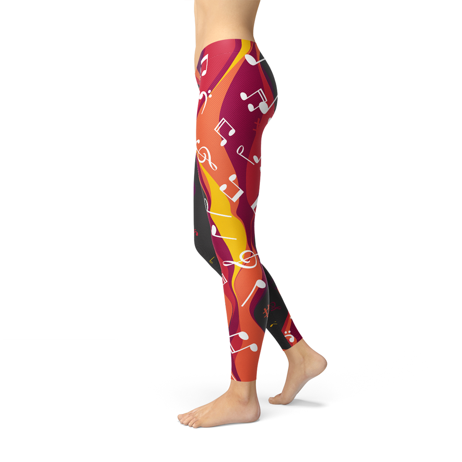 Guitar and Music Note Leggings