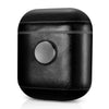 Leather Earphone Case Gyro Box For AirPods Black