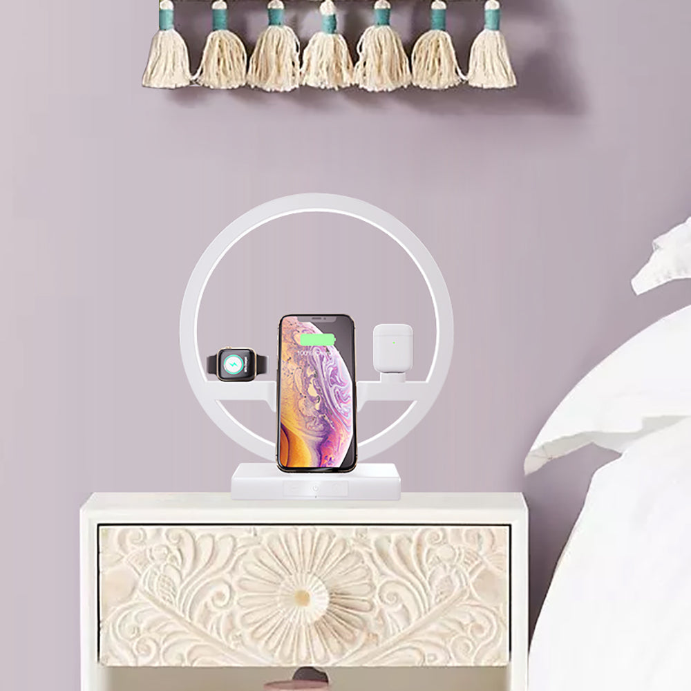 3 in 1 Fast Wireless Charger Dock Station EU PLUG