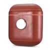 Leather Earphone Case Gyro Box For AirPods Red