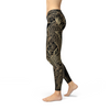 Womens Koi Fish Black Leggings