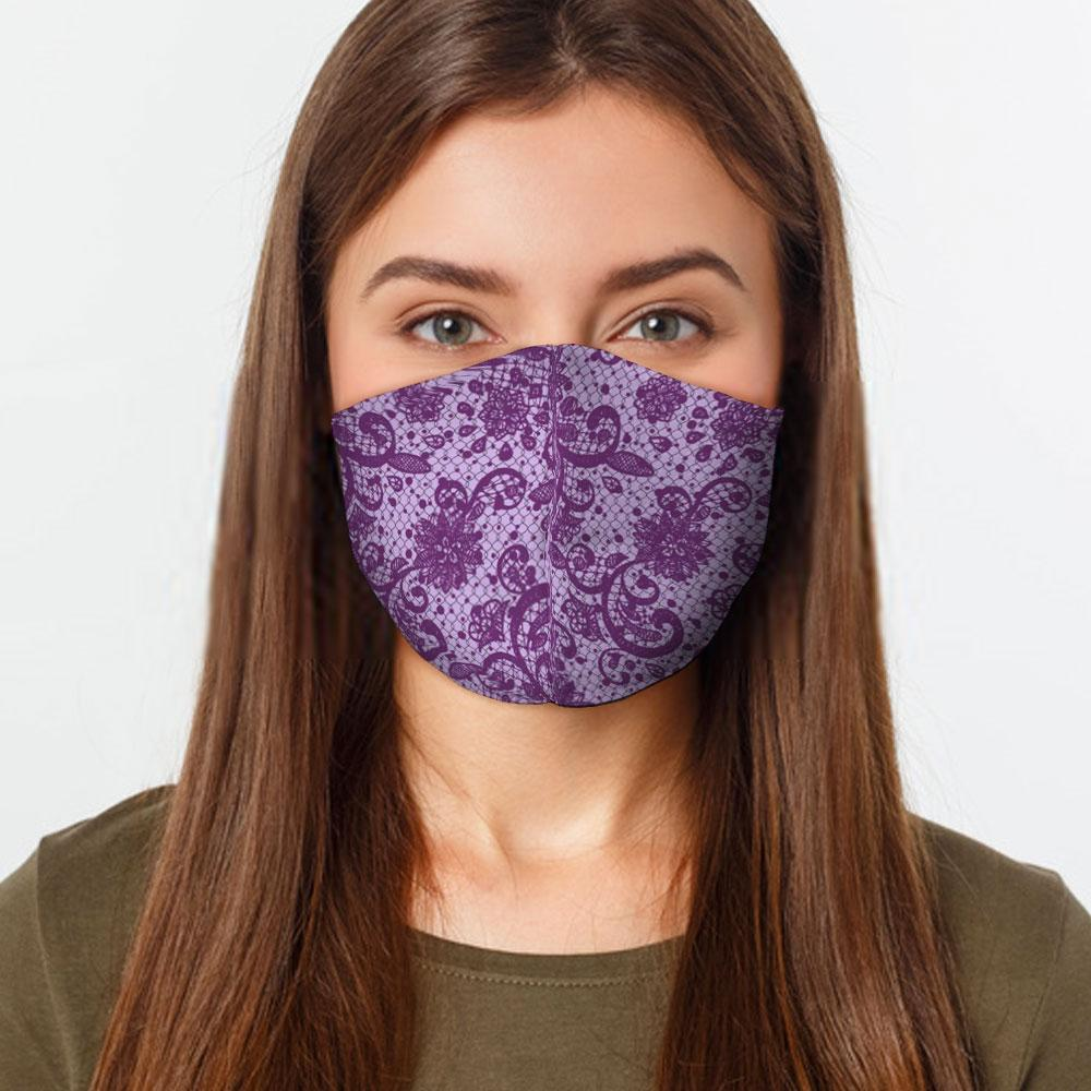 Purple Lace Face Cover
