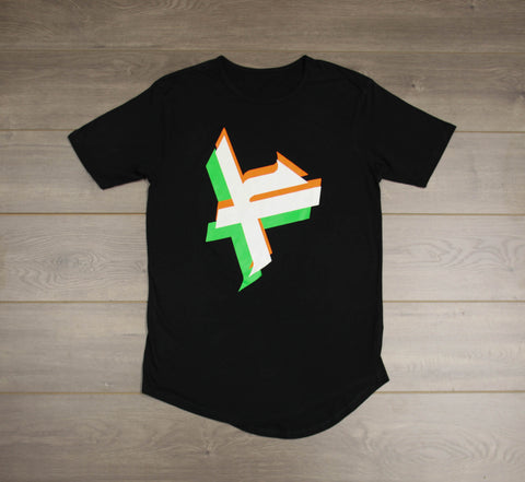"DIGITAL ""F"" DROP CUT T-SHIRT"