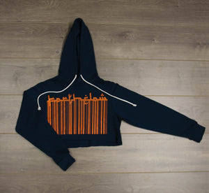 BARCODE CROPPED SWEATER
