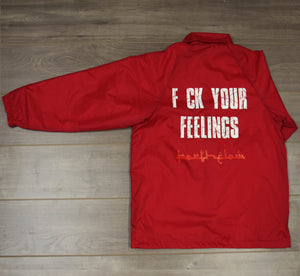 NO FEELINGS COACH JACKET