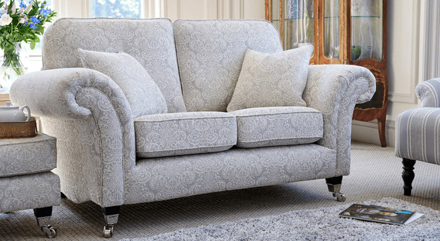 Traditional patterned 2 seater sofa