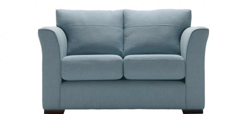 Cool blue 2 seater sofa