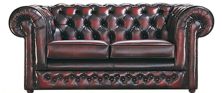 Antique brown chesterfield sofa