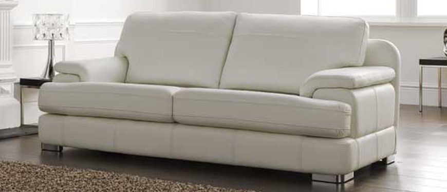 Mezzo three seater leather sofa softgrain