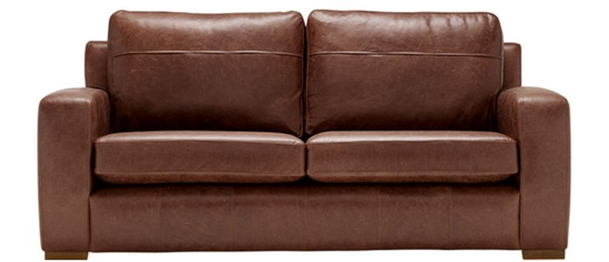 Mezzo two seater leather sofa