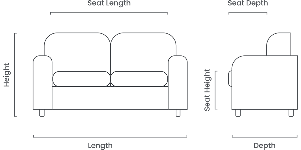 Sofa dimensions guide