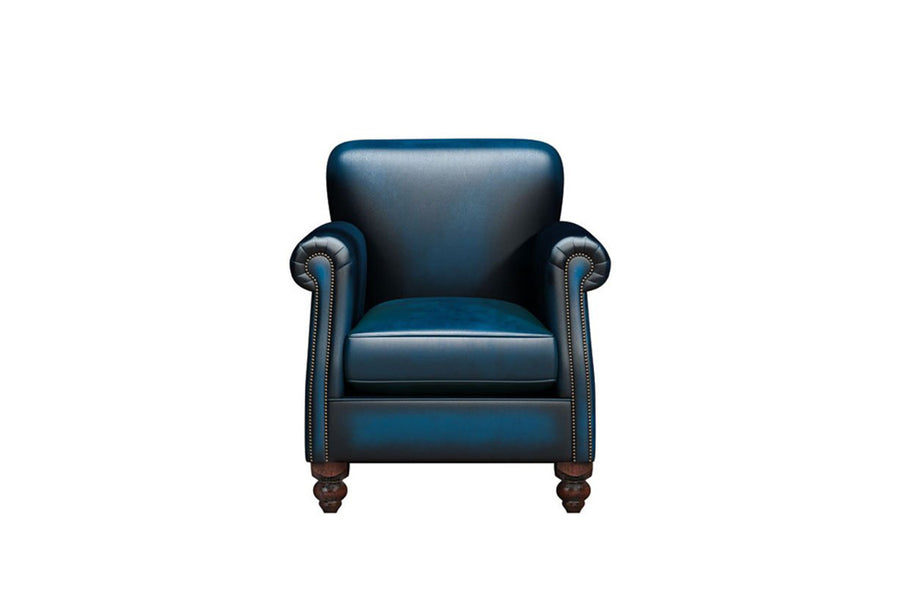 Victoria  | Albert Armchair | Antique Blue