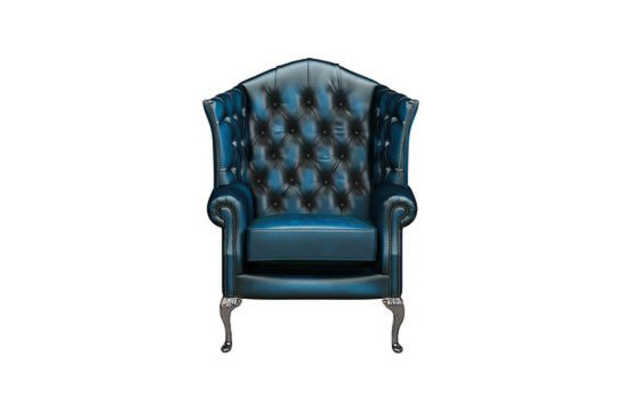 Victoria | Canterbury Highback Chair | Antique Blue