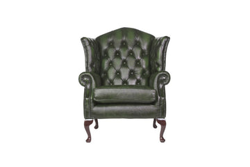 Victoria | Canterbury Highback Chair | Antique Green