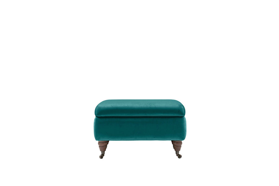 Florence | Storage Stool | Opulence Teal