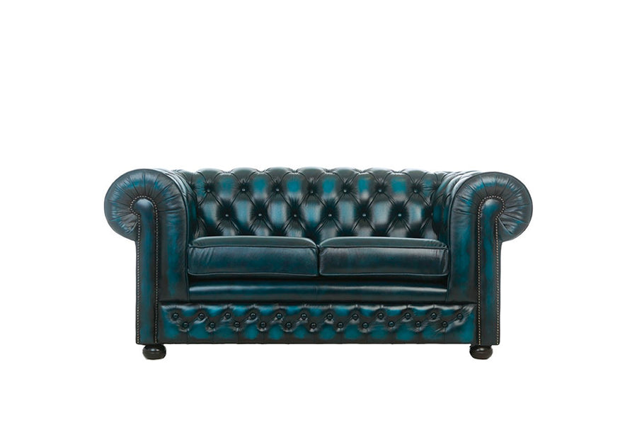 Chesterfield | 2 Seater Sofa | Antique Blue