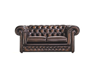 Chesterfield | 2 Seater Sofa | Antique Brown