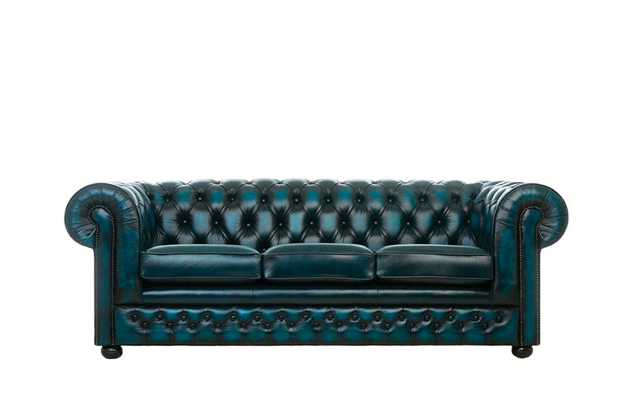 Chesterfield | 3 Seater Sofa | Antique Blue