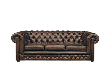 Chesterfield | 3 Seater Sofa | Antique Brown