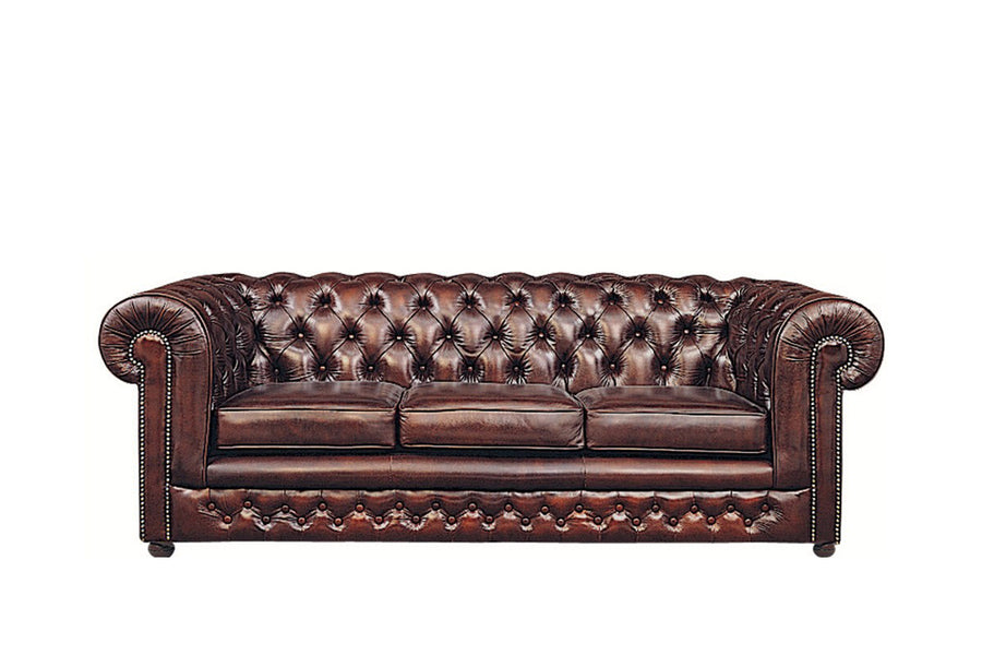 Chesterfield | 3 Seater Sofa | Antique Red