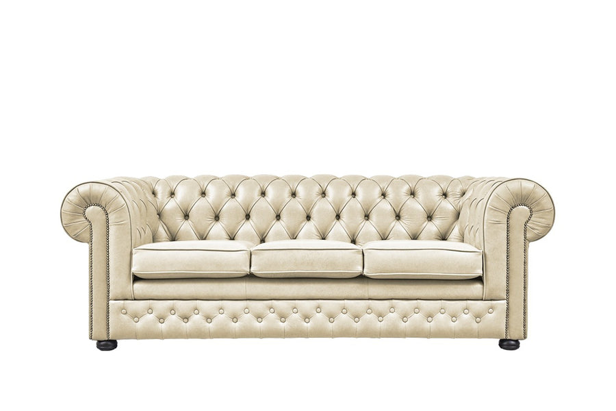 Chesterfield | 3 Seater Sofa | Milton Stone