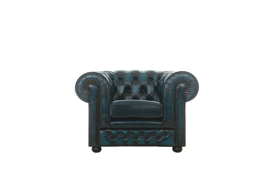 Chesterfield | Club Chair | Antique Blue