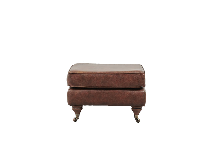 Duke | Footstool | Vintage Chestnut