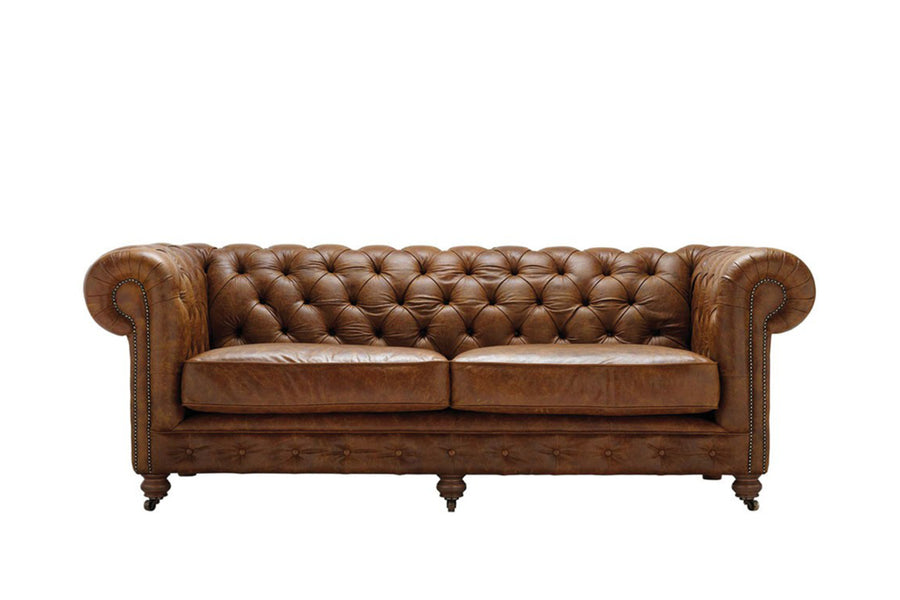 Grand Chesterfield | 3 Seater Sofa | Vintage Chestnut