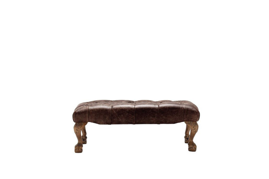Grand Chesterfield | Bench Footstool | Vintage Rosewood