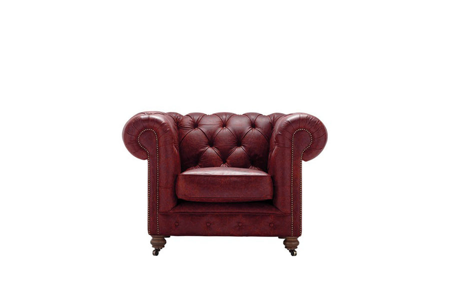 Grand Chesterfield | Club Chair | Vintage Oxblood