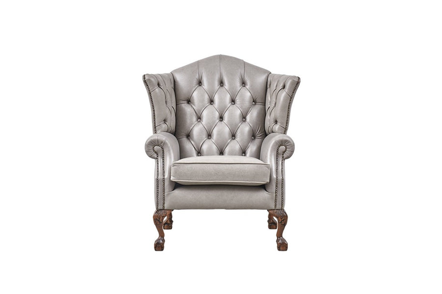 Grand Chesterfield | Highback Chair | Milton Fog