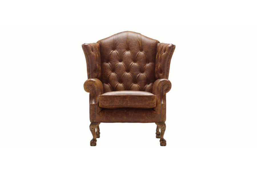 Grand Chesterfield | Highback Chair | Vintage Chestnut