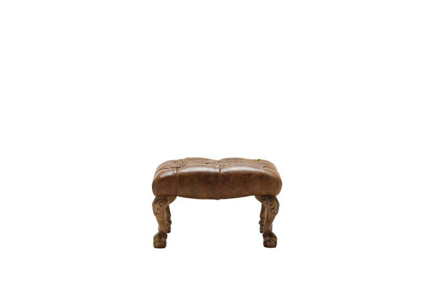 Grand Chesterfield | Footstool | Vintage Chestnut