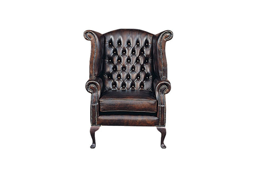 Chesterfield | Georgian Highback Chair | Antique Brown