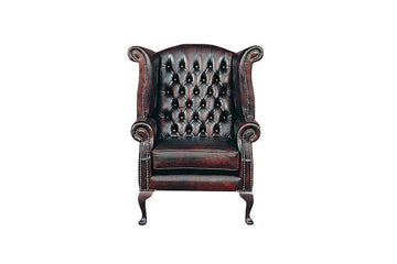 Chesterfield | Georgian Highback Chair | Antique Red