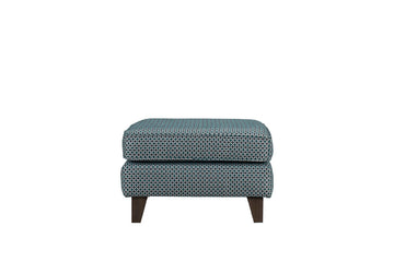 Georgie | Square Footstool | Coco Teal