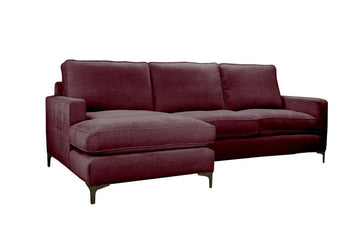 Ismay | Chaise Sofa Option 2 | Velluto Bordeaux