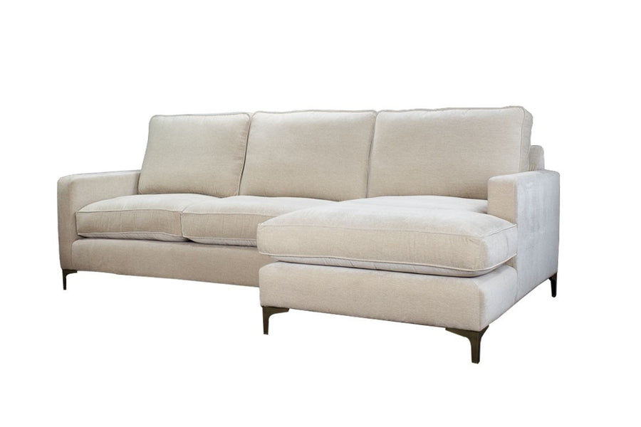 Ismay | Chaise Sofa Option 2 | Velluto Almond