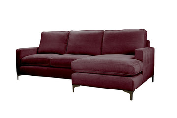 Ismay | Chaise Sofa Option 1 | Velluto Bordeaux