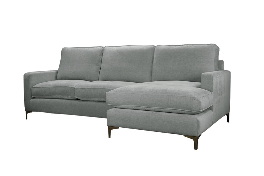 Ismay | Chaise Sofa Option 1 | Velluto Silver