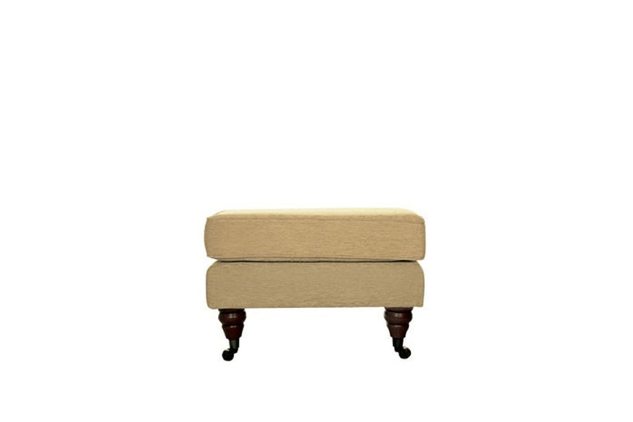Blenheim | Footstool | Brecon Plain Biscuit