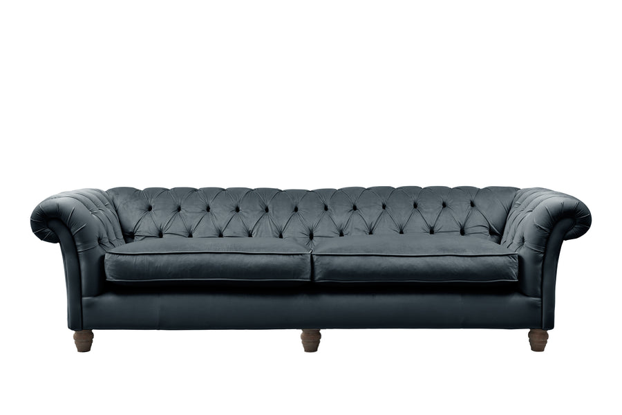 Grosvenor | 4 Seater Sofa | Opulence Petrol