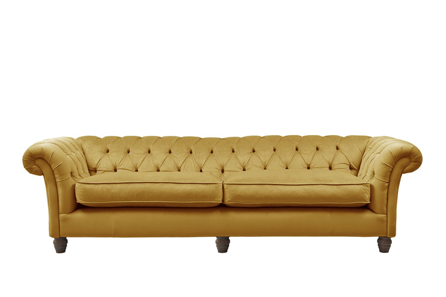 Grosvenor | 4 Seater Sofa | Opulence Saffron