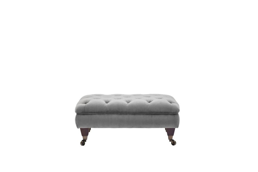 Hampton | Footstool | Opulence Steel