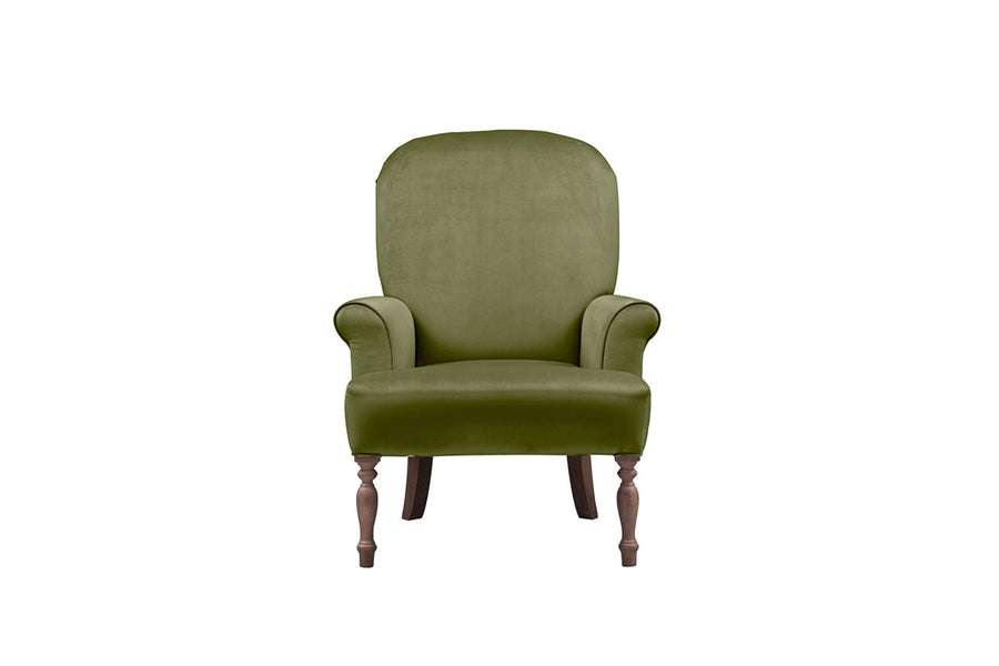 Agatha | Emily Companion Chair | Opulence Olive Green