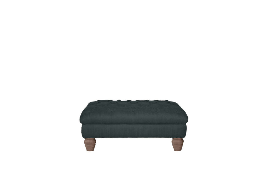 Wentworth | Button Bench Footstool | Pavilion Anthracite