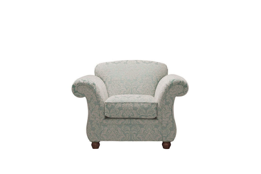 Woburn | Armchair | Brecon Damask Duck Egg